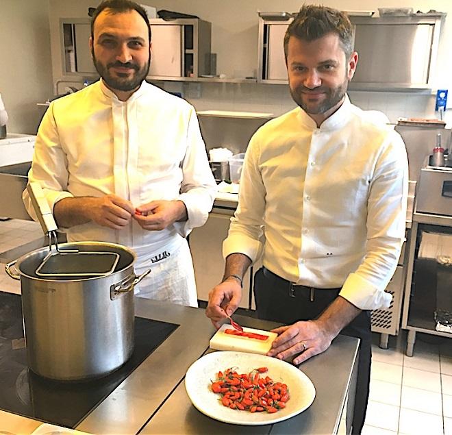 chef bartolini con bacche goji