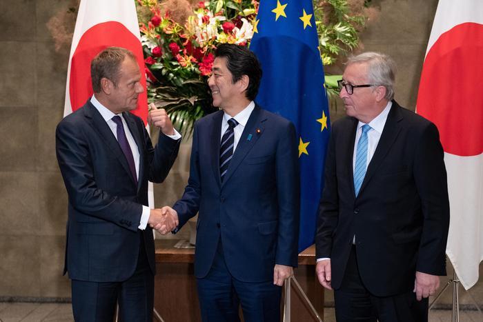 Europa e Giappone unite contro i dazi