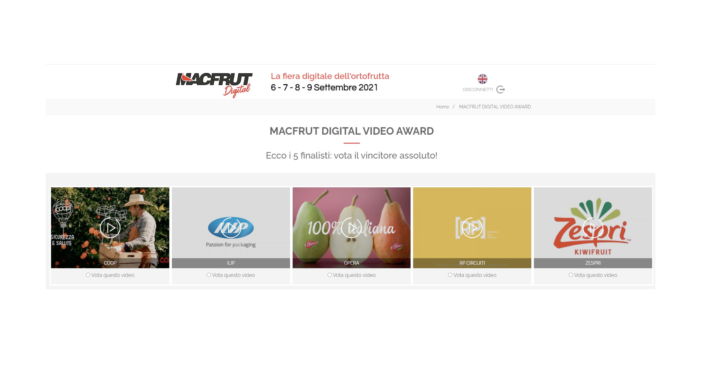 MACFRUT DIGITAL VIDEO AWARD, ECCO I 5 FINALISTI